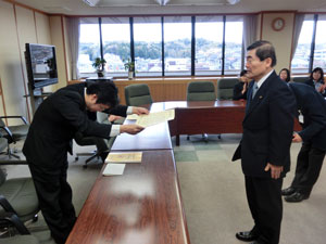 平成25年 東日本大震災支援活動に対し、厚生労働大臣感謝状を宇治市長より授与
